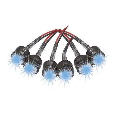 6 pièces LED bleu 10mm