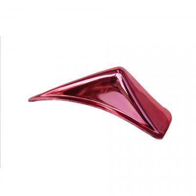 Aileron de casque adhésif anodise rouge