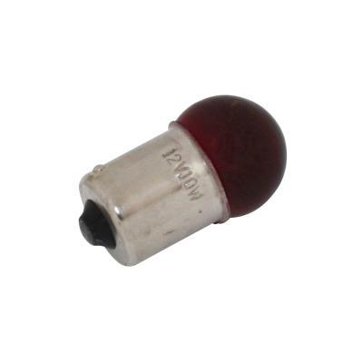 Ampoule BA15S G18.5 12V 10W Rouge