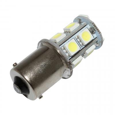 Ampoule clignotant led 12v 3,3w 13smd ba15s blanc brillant