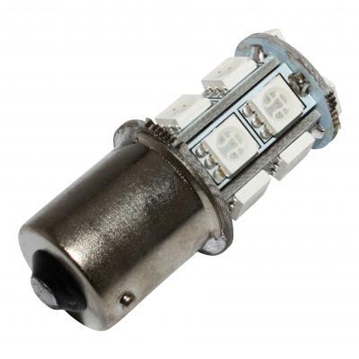 Ampoule clignotant led 12v 3,3w 13smd ba15s rouge brillant