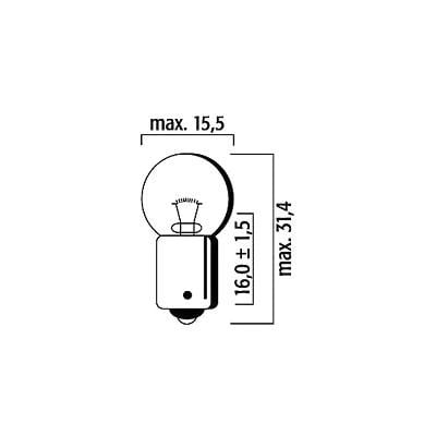 Ampoule Flösser GE57 12V 4W BA9S