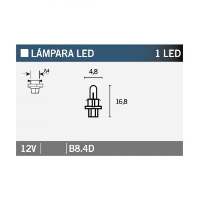 Ampoule Vicma B8,4D LED 12V Blanche