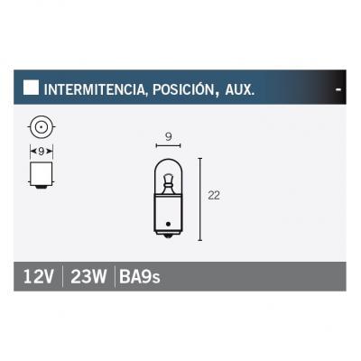 Ampoule Vicma BA9S 12V 23W Blanche