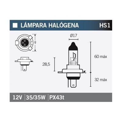 Ampoule Vicma HS1 PX4THalogène 12V 35/35W