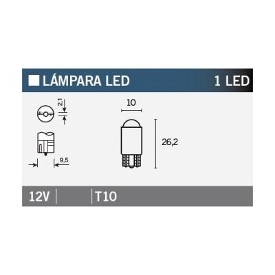 Ampoule Vicma T10 LED 12V Orange