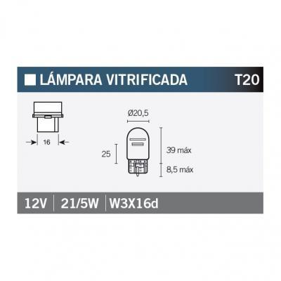 Ampoule Vicma W21/5W W3x16d 12V 21/5W