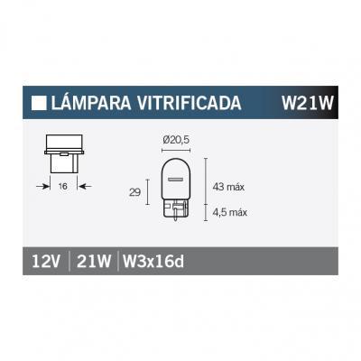 Ampoule Vicma W21W W3x16d 12V 21W