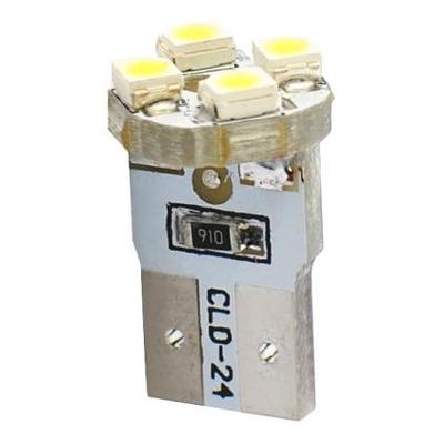Ampoules à 4 LED blanc W5W T10 12V 0.35W