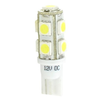 Ampoules à 9 LED blanc W5W T10 12V 2.16W