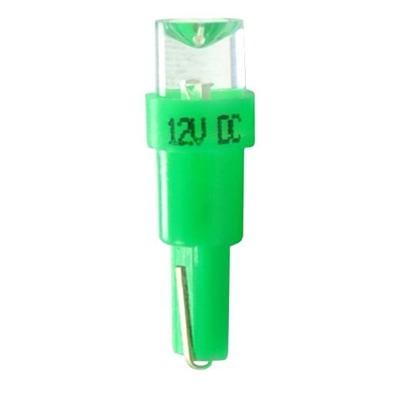 Ampoules à LED flux concave vert T5 12V 0.2W