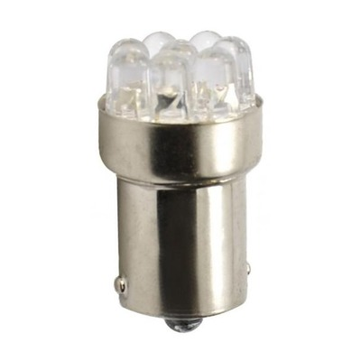 Ampoules blanche à LED 12V S25 BA15S P21W 1.025W 12 x Led Flux 5mm