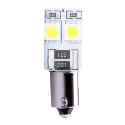 Ampoules blanche à LED 12V T4W BA9S 0.96W 4 x SMD 5050 Canbus