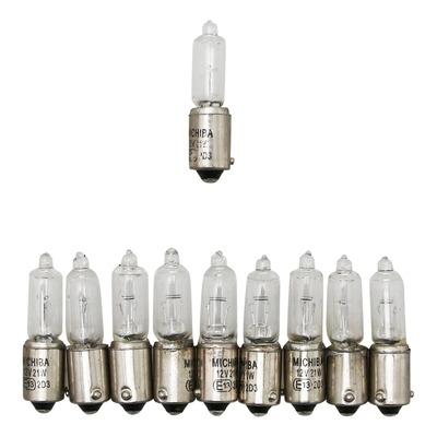 Ampoules blanche Vicma mini 12V 21W culot BAX9S ergots décalés.