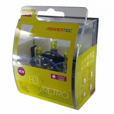 Ampoules Brazoline Powertec H3 jaune vintage