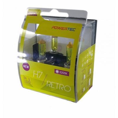 Ampoules Brazoline Powertec H7 jaune vintage