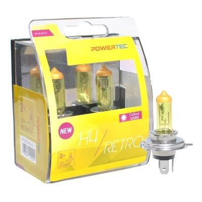 Ampoules jaune vintage H4 P43T 12V 55/60W homologué