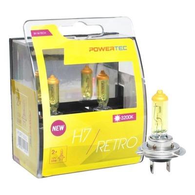 Ampoules jaune vintage H7 PX26D 12V 55W homologué