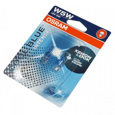 Ampoules Osram W5W 12V 5W bleu intense