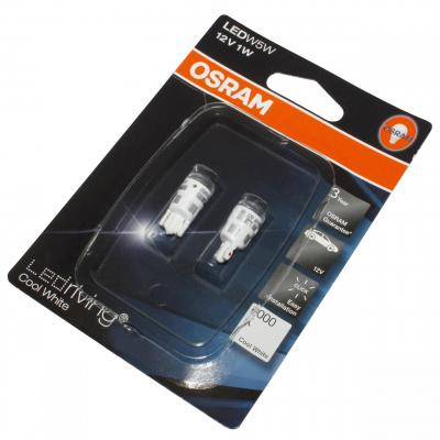 Ampoules Osram W5W 12V 5W LED 6000K blanches