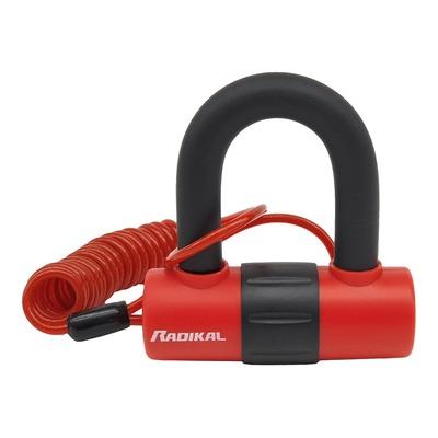 Antivol mini U Radikal RK72 avec câble anti-oubli