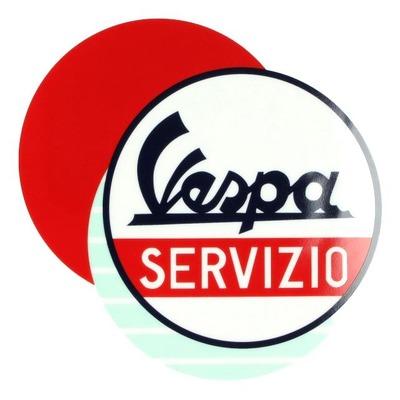 Assiette céramique Vespa Servizio blanc/bleu/rouge (1 pièce)