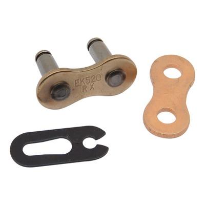 Attache rapide EK RX pas 520 or à clip sans joint torique