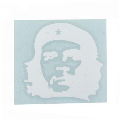 Autocollant Che Guevara 7x7cm blanc