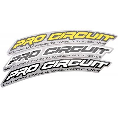 Autocollant de garde-boue avant Pro Circuit blanc