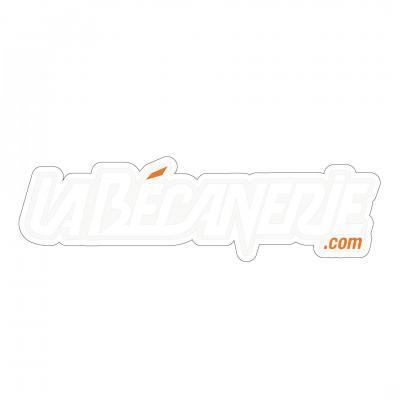 Autocollant La Bécanerie 12.5 cm blanc / orange / transparent