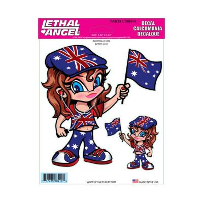 Autocollant Lethal Threat Australia girl 15x20cm
