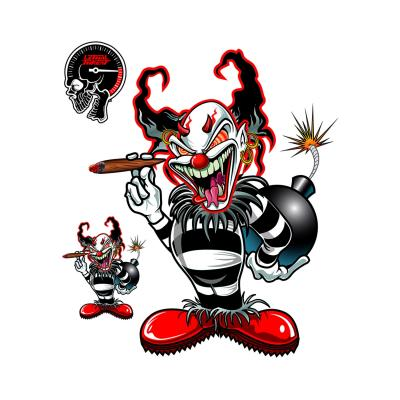 Autocollant Lethal Threat Clown bombe 15x20cm