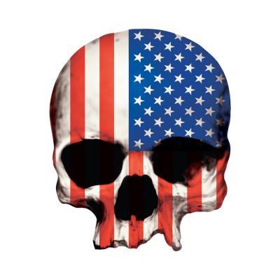 Autocollant Lethal Threat Crâne américain 7x11cm