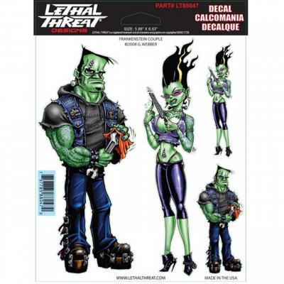 Autocollant Lethal Threat Frankenstein couple 15x20cm