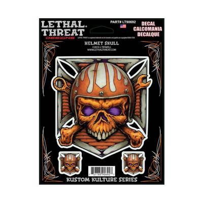 Autocollant Lethal Threat Helmet skull 15x20cm