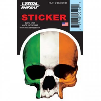 Autocollant Lethal Threat Ireland skull 7x11cm