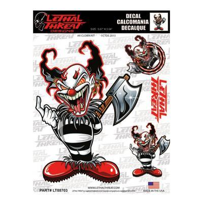 Autocollant Lethal Threat Killer clown 15x20cm