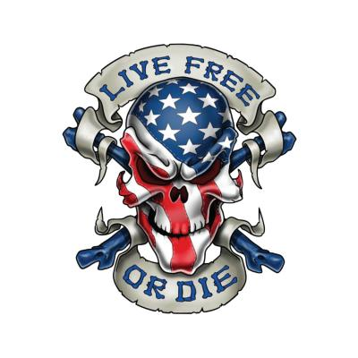 Autocollant Lethal Threat Live free or die 7x11cm