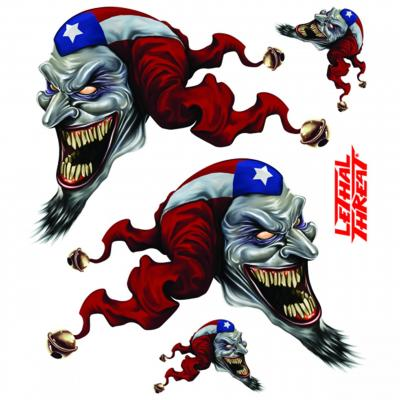 Autocollant Lethal Threat Pr jester 15x20cm