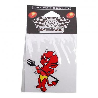 Autocollant Meryt devil petit rouge avec trident