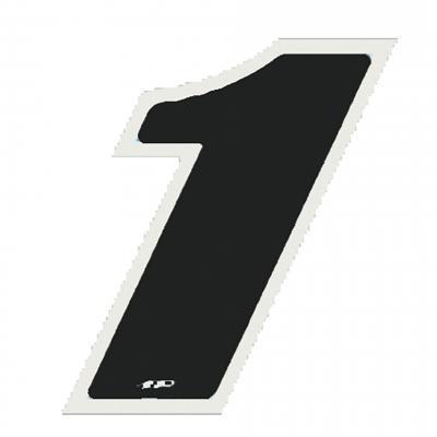 Autocollant numéro 1 noir 9 cm