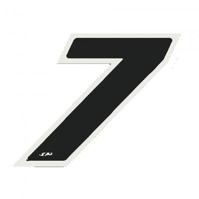 Autocollant numéro 7 noir 13 cm