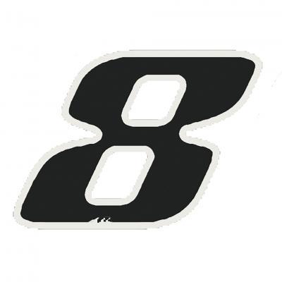 Autocollant numéro 8 noir 9 cm