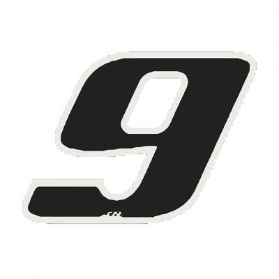 Autocollant numéro 9 noir 9 cm