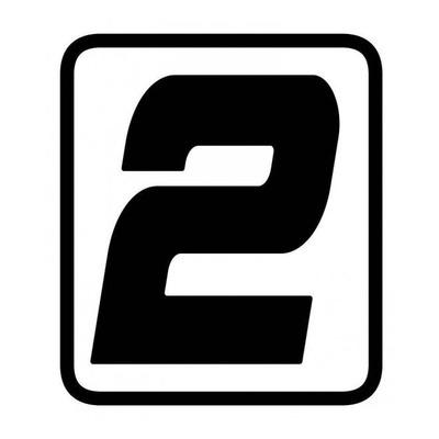 Autocollant numéro course Barracuda #2 noir