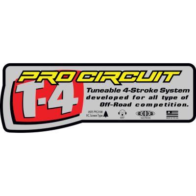 Autocollant Pro Circuit pour échappement Ti-4 Slip-on 08