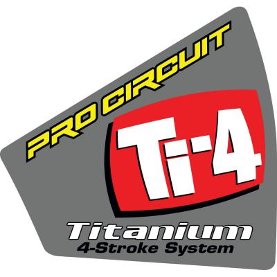 Autocollant Pro Circuit pour embout de silencieux Ti-4 Titanium