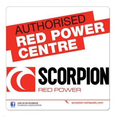 Autocollant Scorpion Authorised Dealer