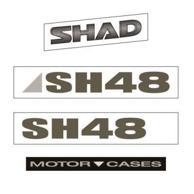 Autocollant Shad pour top case SH48 gris titans