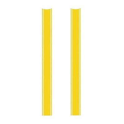 Autocollants Brazoline bandes triples jaunes